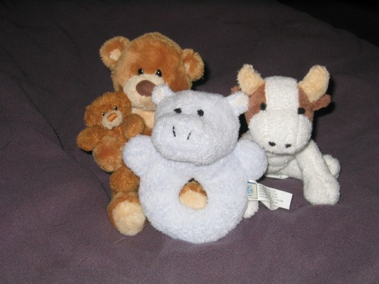 Jake's stuffed animals