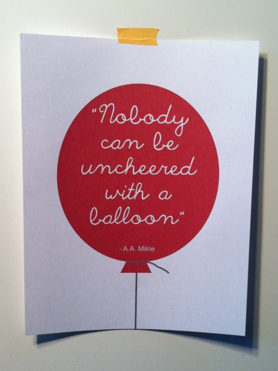 quote - balloon - AA Milne