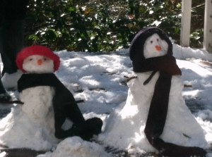 Evan and Lanie - snow people