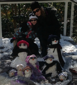 Me, little Miss. and our snow family