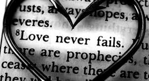 quote - love never fails
